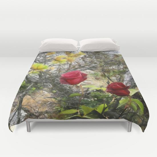 Pine & roses duvet