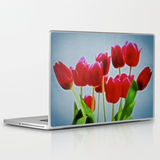 Tulips laptop skins