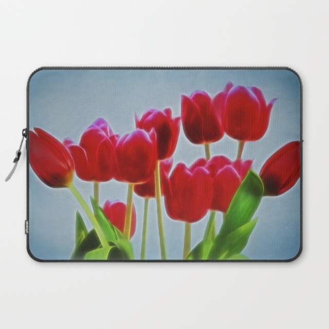 Tulips laptop sleeves