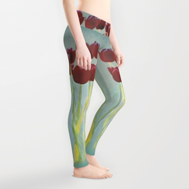 Tulips legging side
